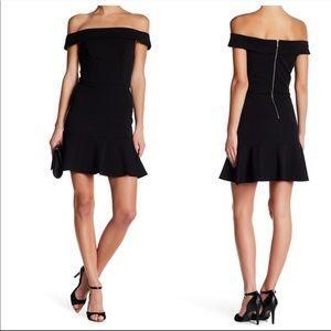 932 abs allen scheartz off shoulder dress